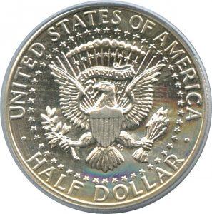 Manschettenknopf Münze Kennedy Half Dollar